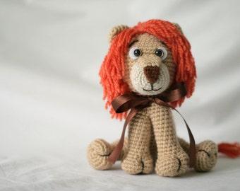 Lion toy Children gift Lion Stuffed toy Crochet Lion Kids gift Baby gift Lion Soft toy  Crochet animal Christmas gift Amigurumi Lion