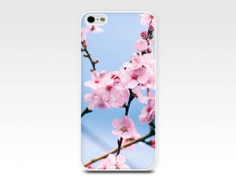 iphone 4 4s 5 5s 6 case botanical cherry blossom floral flower photo art spring fine art photography case cell phone cover nature pink blue