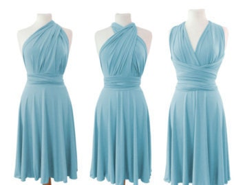 Pale blue  Infinity  Dress  Convertible with matching tube top