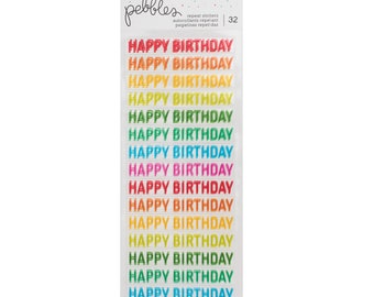 Happy hooray birthday stickers