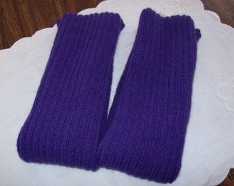 Warm Knitted Leg Warmers Purple,Acrylic Leg warmers, Dance leg warmers, Boot Leg warmers, Lightweight Leg Warmers, Small Adult Leg Warmers