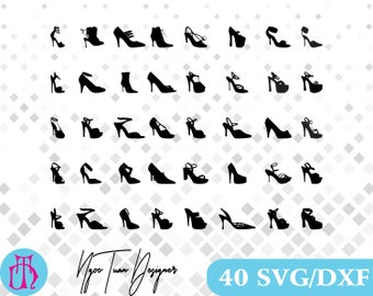 High Heel Shoes svg,dxf for Design,Silhouette,Cricut and any more