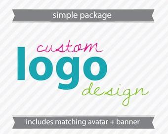 Custom Simple Logo Design - includes Avatar and Banner