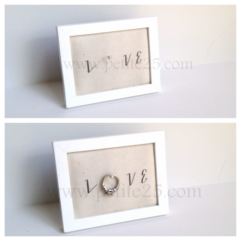 Wedding Ring Picture Frame Holder | Wedding
