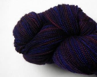 Hand dyed deep purple 100% merino superwash sock yarn