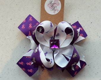 """5"""" stacked boutique bow - Ralph Lauren"""