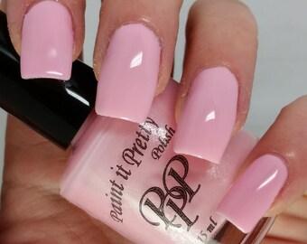 Marshmellow Peeps, pastel nail polish, pink nail polish indie nail polish 5 free nail polish, paint it pretty 15 ml