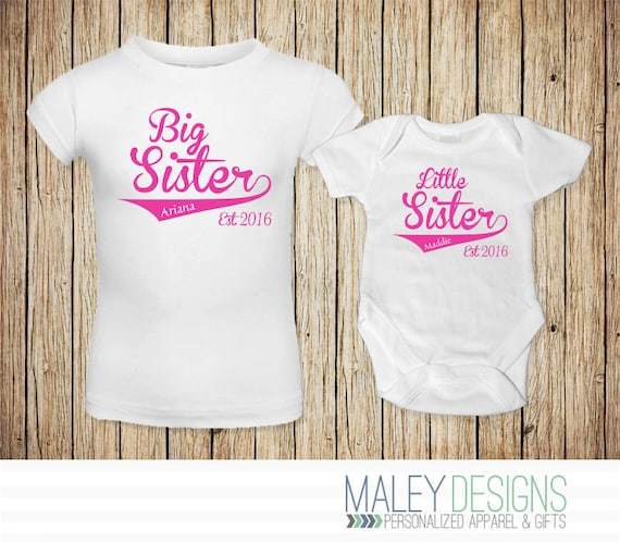 Big Sister Little Sister Outfits Matching Sister Shirts