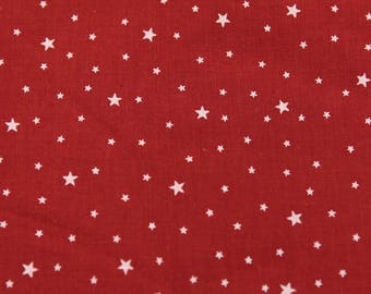 Fabric first star color Paprika red per meter