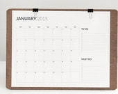 2015 minimum and functional calendar printable