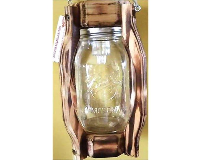 Clear Quart Mason Jar Solar Lantern