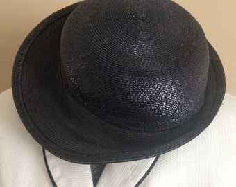Ladies Simple Black Fleur de Paris Hat, New Orleans.