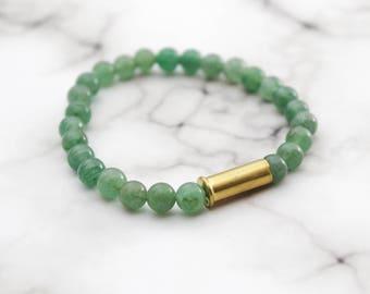 Jade & Bullet Bracelet