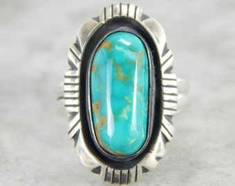 Fabulous Turquoise Gemstone in Sterling Silver Mounting KC4M27-D
