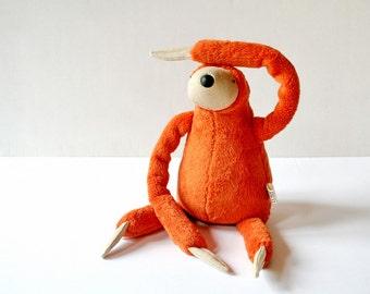 Small Plush Orangutan Sloth, stuffed animal toy for children, cuddly jungle stuffie, sleeping fellow