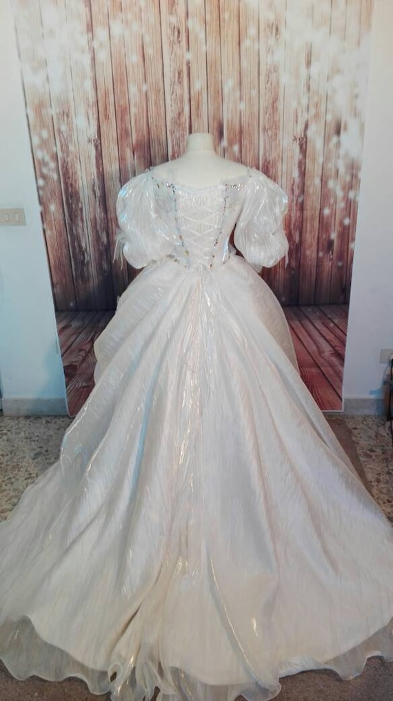 dress Queen romantic Bride reproduction princess fairy cosplay Labyrinth bride Ball the fantasy of Sarah masquerade Goblins XwxvFqH