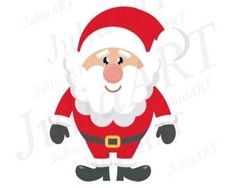 cartoon cute santa claus on a white background