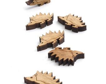 "XS Mini Hedgehog Charms - 1"" Size - Laser Cut Wood - Etsy Itsies"