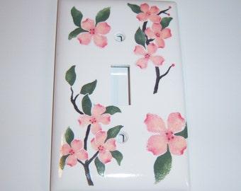 Pink Dogwoods Light Switch Cover, Gardener Gift