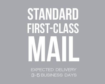 Shipping : USPS Standard First Class Mail® via USPS