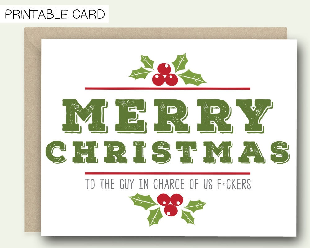 Printable christmas card for boss merry christmas to the zoom kristyandbryce Image collections