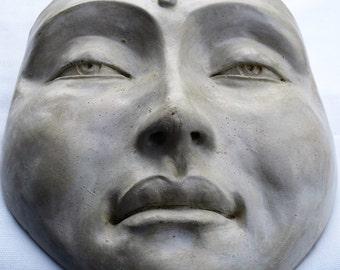Mask of Buddha, Zen Healing Wall Sculpture, Handmade Artwork for Home Decor