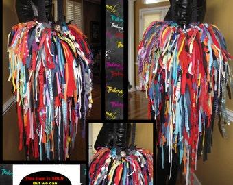 Bohemian Fringe Handbag,Upcycled,Rag, Scrap, Custom Made, One Of A Kind, Hippie,BoHo,Funky,Purse,Tote