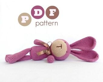 PDF amigurumi crochet pattern. Instant download. Jeronimo, the bunny.