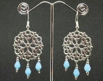 Earrings ' Graceful blue '