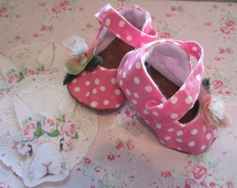 HANDMADE BABY SHOES Mary Jane Style Size 6-9 Months Easter Accessory