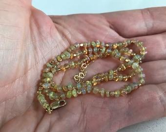 Ethiopian Welo Opal Necklace
