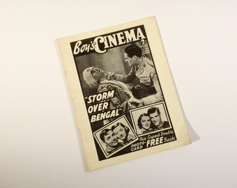 1939 Boy's Cinema Screen Facts reprint (1970's)