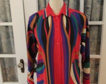 Chagall Brand Psychedelic Blouse