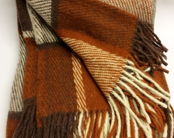 130x 180cm wool plaid wool blanlket wool throw checked blanket wool