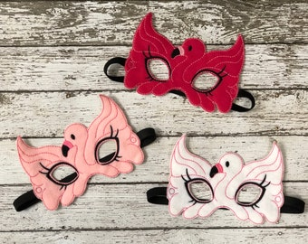 Flamingo Mask Flamingo Masks Pink Flamingo Mask Halloween Halloween Mask Bird Mask Bird Costume Flamingos Flamingo Party