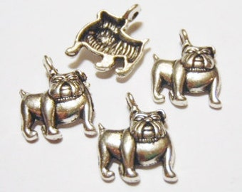 10 Bulldog, Dog Charms  18x13mm Item:D2