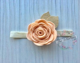 Handmade felt flower headband, flower crown, baby gift, floral hair accessory, photoshoot, gift for a girl, boho, flower girl, bridesmaid