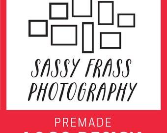 Custom Premade Logo- Picture Frames Handwritten Calligraphy Font