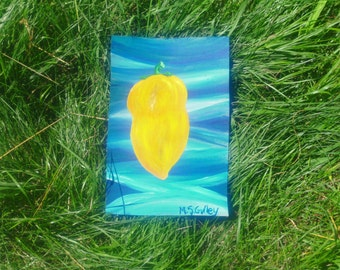 Yellow Pepper, Blue Sea