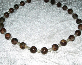 Jasper, fresh water pearls necklace, hand made, vintage, genuine stones, gemstones