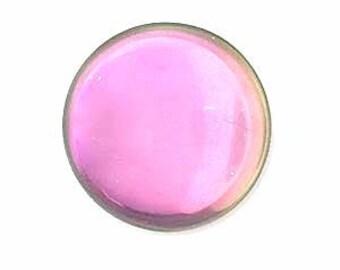 25mm Czech glass Cabochon Pink Mist