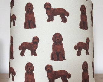 Labradoodle dog print Lampshade