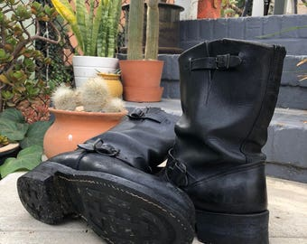 VINTAGE RED WING LEATHER MOTORCYCLE WORK BOOTS 6.5 D