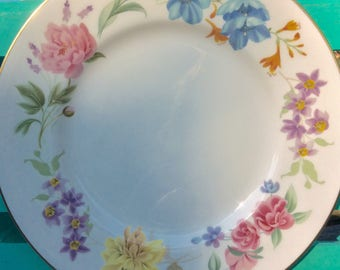 Pretty in Pink-1972 Royal Worcester Kentmere 10.5 Inch Dinner Plates