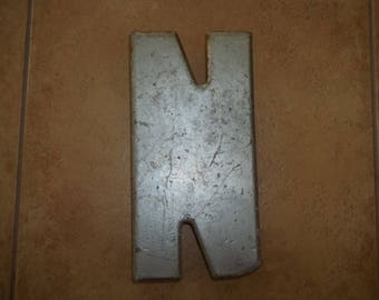 """10"""" Letter N Industrial Look Home Decor or Craft Supply"""