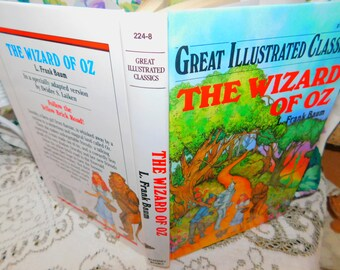 The Wizard Of Oz Great Illustrated Classic L.Frank Baum,Hard Cover Book, Vintage Book,:)s*