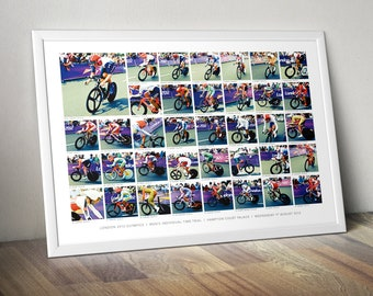 London 2012 Olympics – Mens Individual Time Trial — A3 Giclee Digital Print