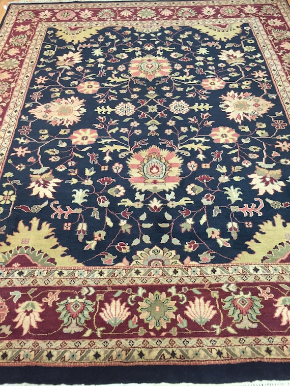 "8'2"" x 10' Indian Agra Oriental Rug - Very Fine - Hand Made - 100% Wool"
