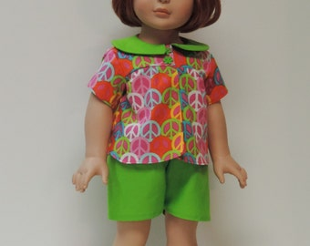 60s American made short pajamas, slippers for girl dolls