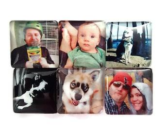 Custom Photo Magnets- Set of 6